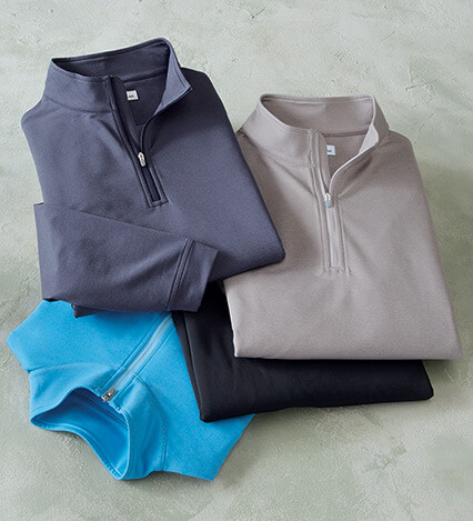 Perth Quarter-Zip Melange Performance Pullover