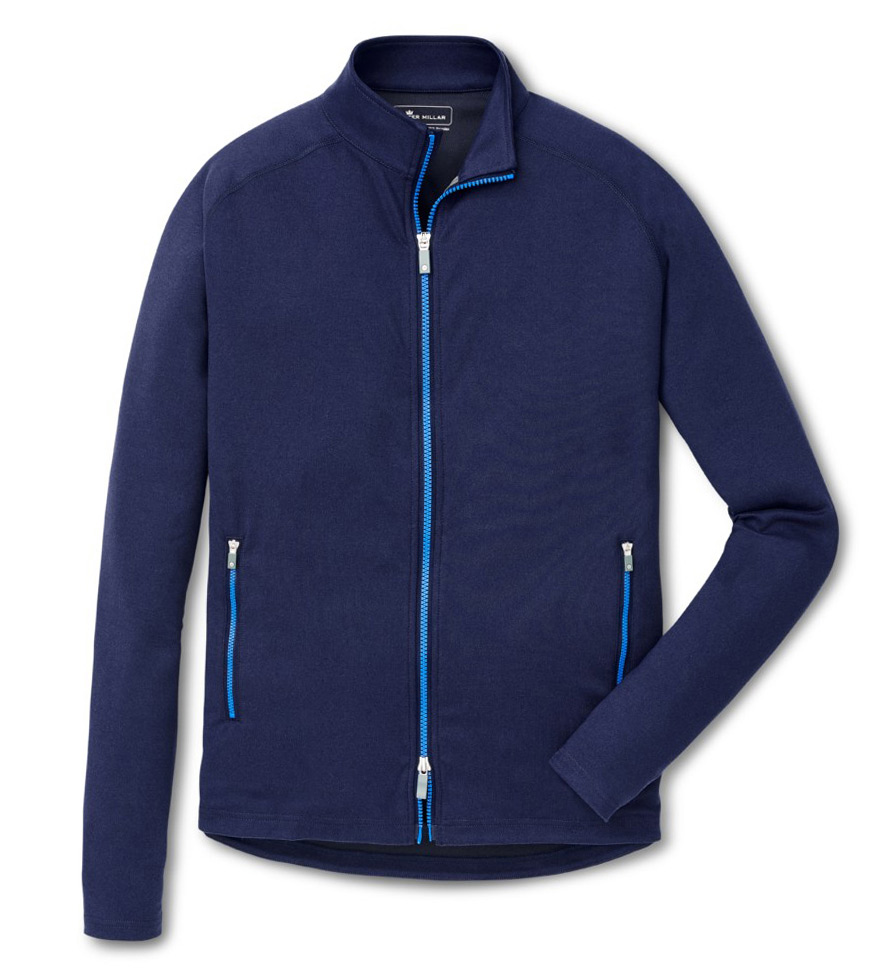 Peter Millar Navy Solid Chamonix Knit Power Jacket