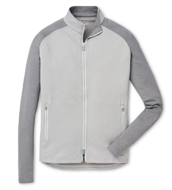 Color Block Gale Grey Chamonix Knit Power Jacket