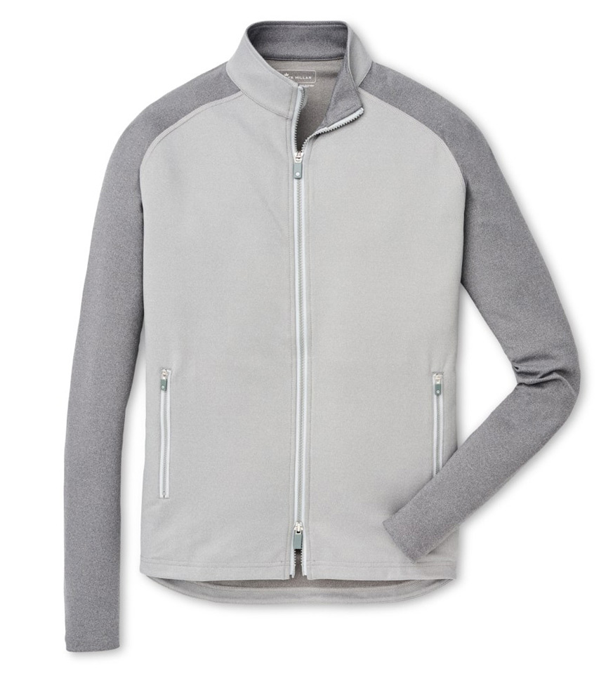 Peter Millar Color Block Gale Grey Chamonix Knit Power Jacket