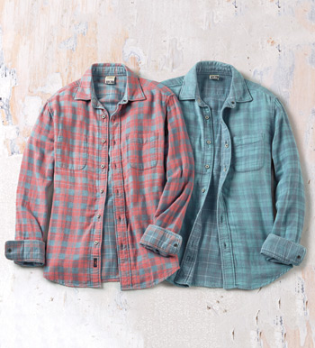 Belmar Reversible Plaid Long Sleeve Sport Shirt
