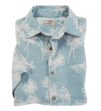 Flower Print Short Sleeve Sport Shirt