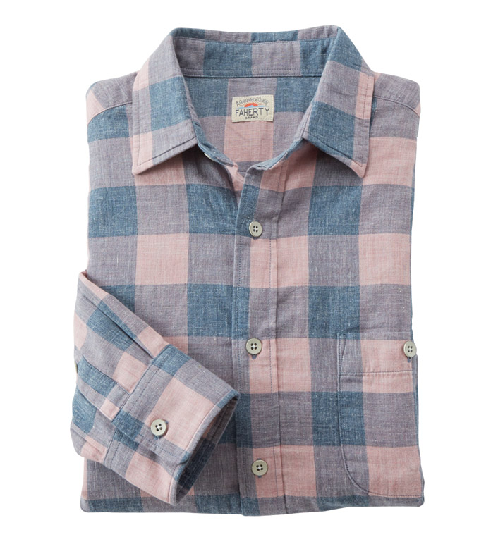 Faherty Seaview Long Sleeve Sport Shirt
