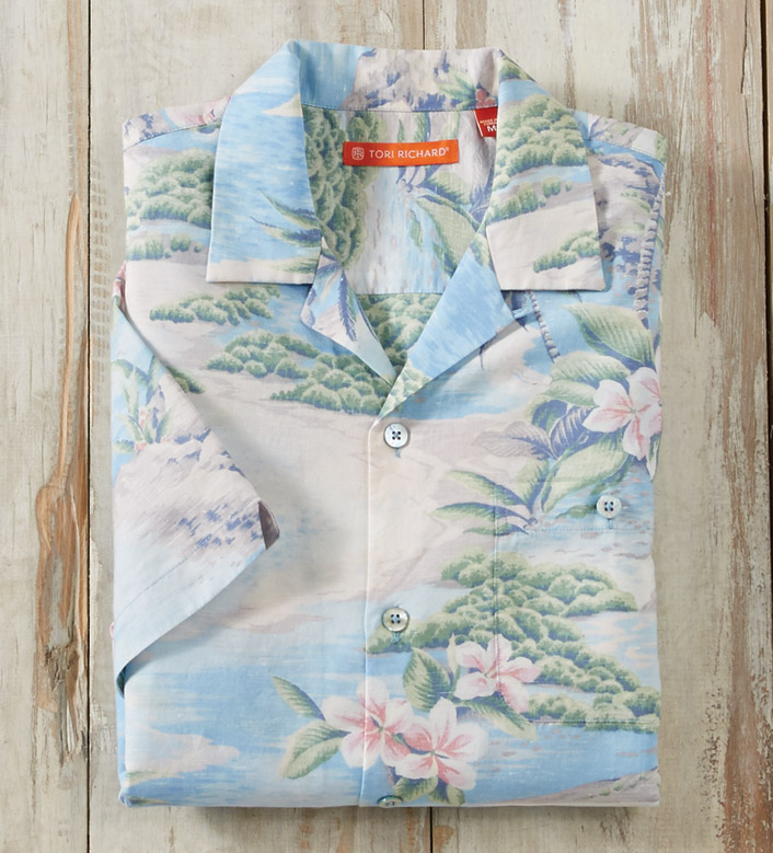 Tori Richard Picturesque Short Sleeve Camp Shirt