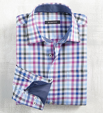 Multi Check Long Sleeve Sport Shirt