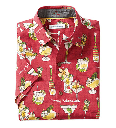 Merry Martini Short Sleeve Camp Shirt