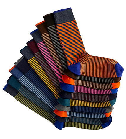 Palio Stripe Fashion Socks