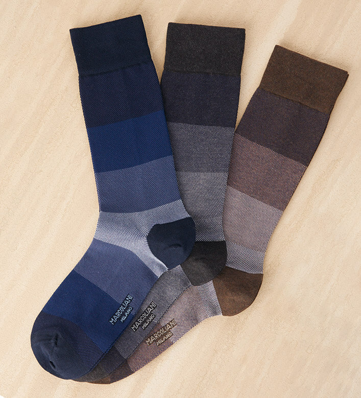 Marcoliani Pique Color Block Socks