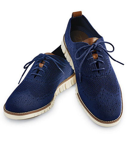 Marine Blue Stitchlite Oxford Shoes