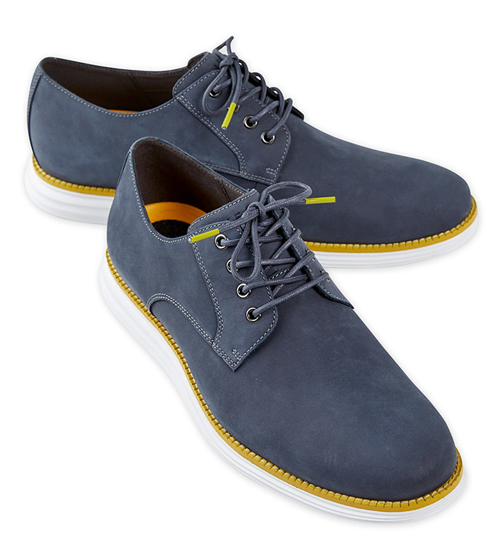 Cole Haan Ombre Blue Original Grand Nubuck Oxford Shoes