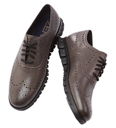 Zerogrand Leather Pavement Oxford Shoes