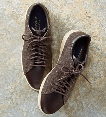GrandPro Brown Wool Tennis Sneakers
