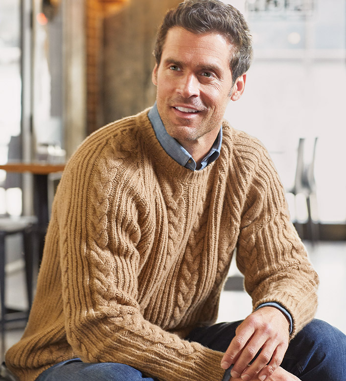Peter Millar Chalet Cable Sweater