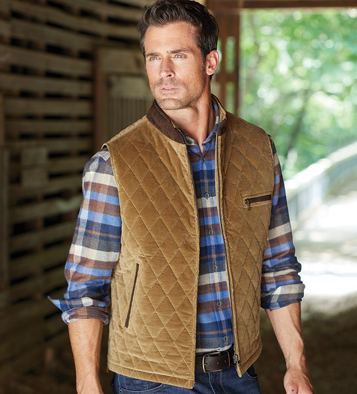 Patrick James Quilted Cord Vest