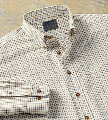 Cotton-Wool Tattersall Long Sleeve Sport Shirt