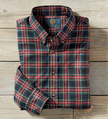 Red Plaid Long Sleeve Sport Shirt