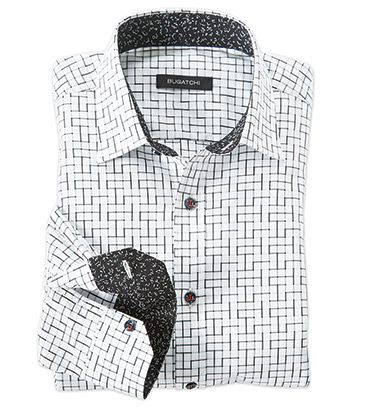 Shadow Check Long Sleeve Sport Shirt