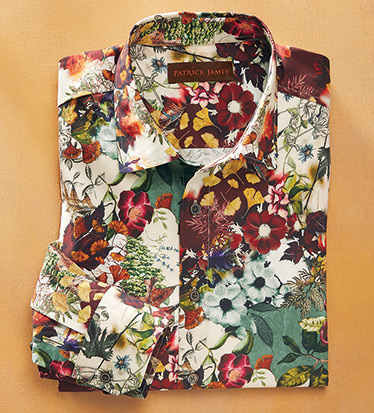 Floral Print Long Sleeve Sport Shirt