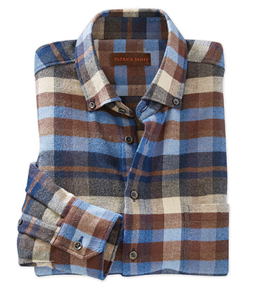 Plaid Flannel Long Sleeve Sport Shirt