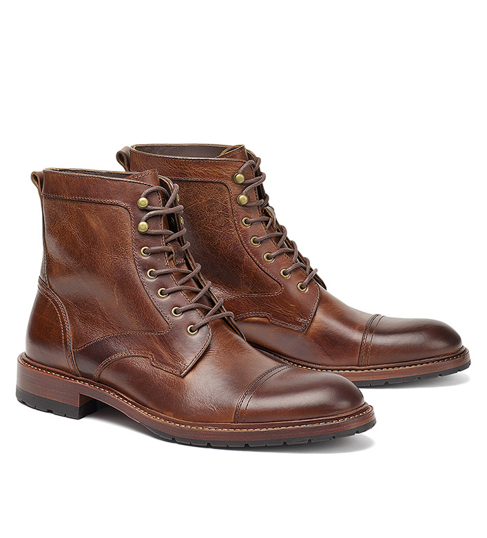Trask Lawrence Leather Boots