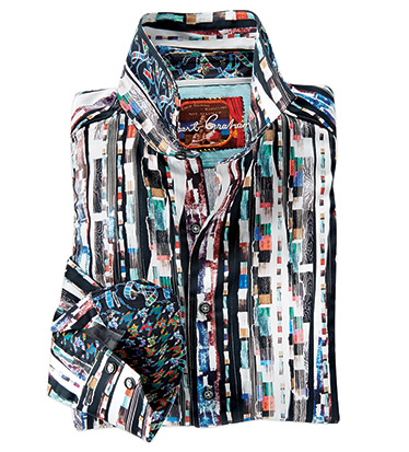 Cutting Room Print Long Sleeve Sport Shirt