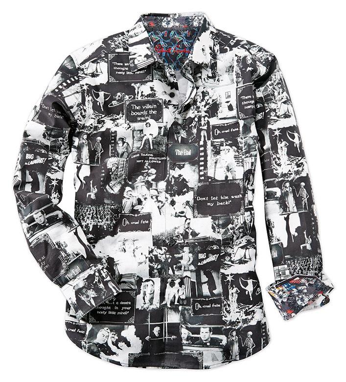 Robert Graham Silent Quotes Long Sleeve Sport Shirt