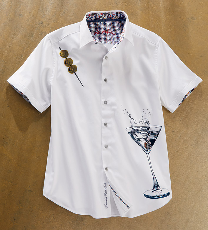 Robert Graham Dean Martini Short Sleeve Sport Shirt