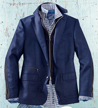 Downhill Sport Coat with Removable Vest