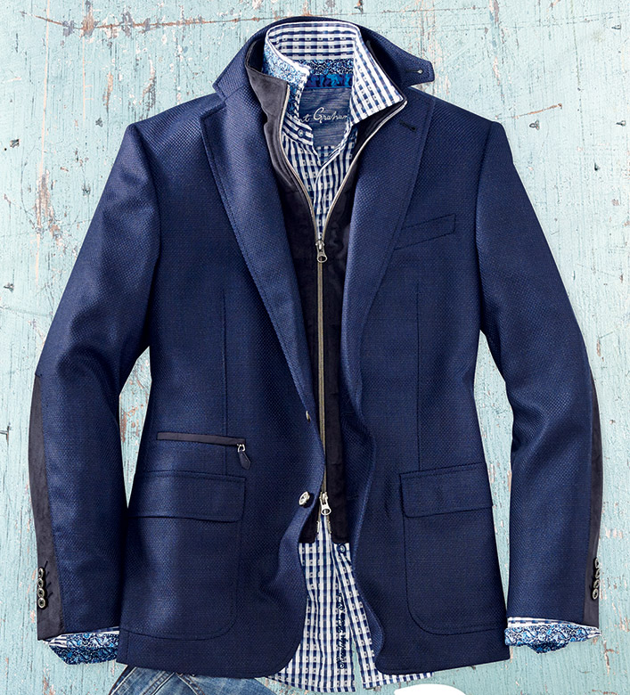 Robert Graham Downhill Sport Coat with Removable Vest