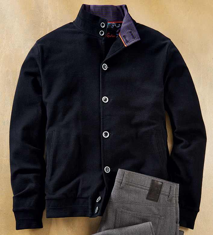 Robert Graham Hickman Knit Cotton Jacket