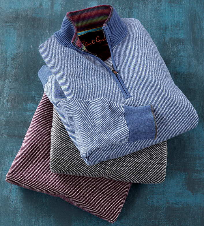 Robert Graham Rhett Quarter-Zip Sweater