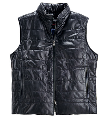 Fairbanks Leather Vest