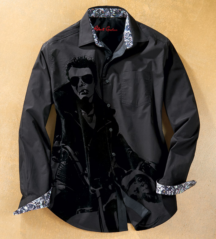 Robert Graham Chopper James Dean Long Sleeve Sport Shirt