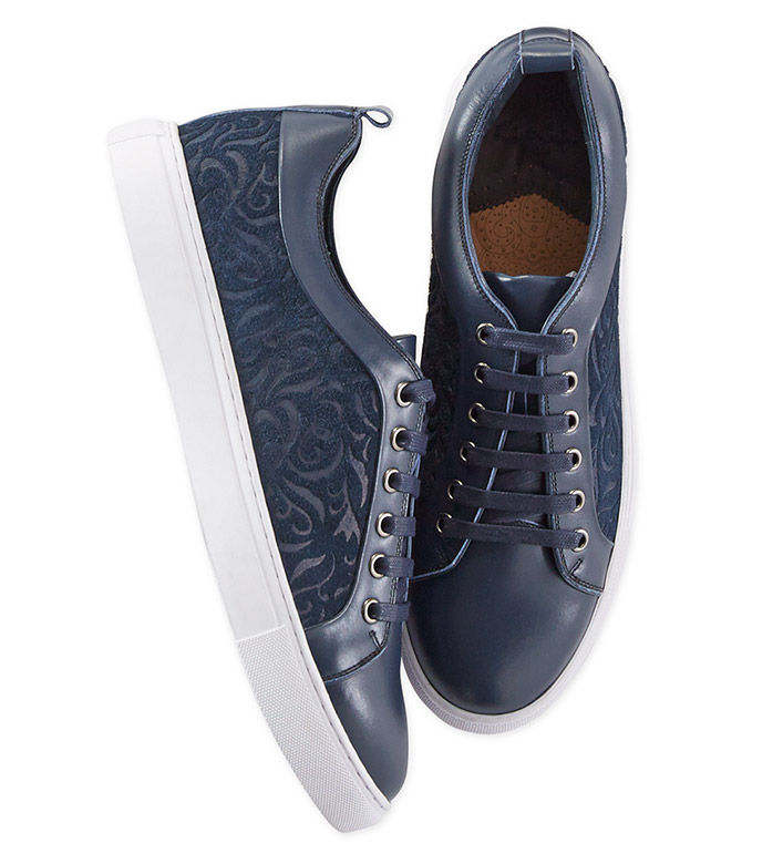 Robert Graham Creed Leather Sneakers