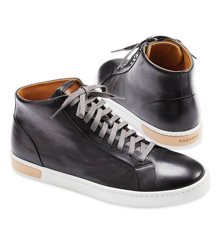 Magnanni Patrick High-Top Leather Sneakers
