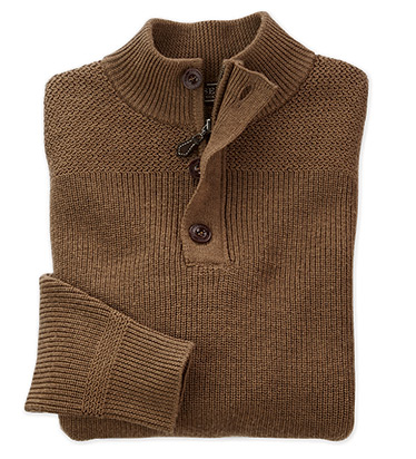 Stonebridge Button Zip Sweater