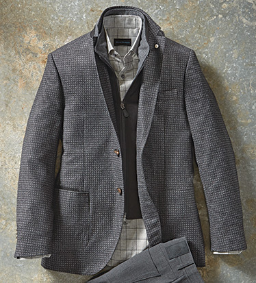 Tic Weave Sport Coat with Vest