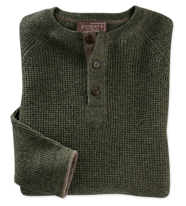 Reserve Cashmere Henley Sweater
