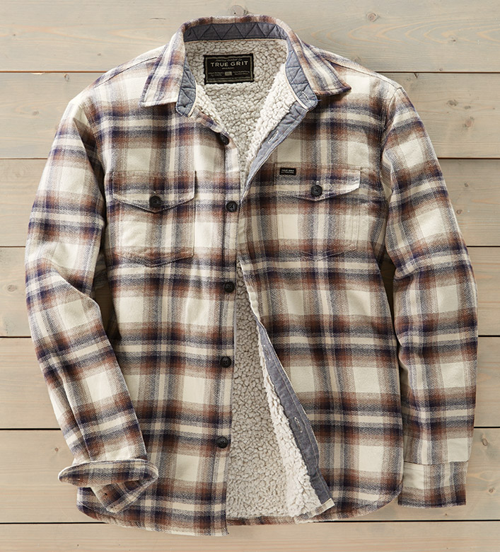 True Grit Summit Roadhouse Plaid Big Shirt