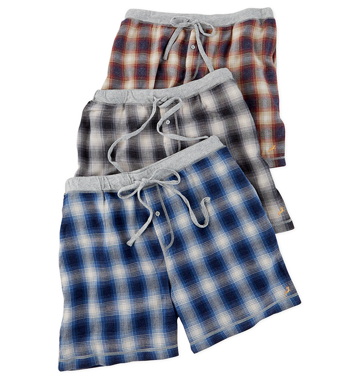 True Grit Shadow Plaid Flannel Boxers