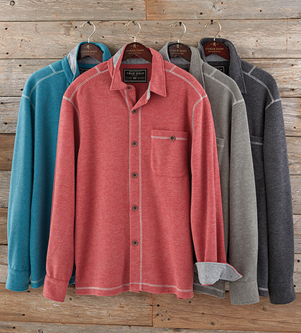 Melange Fleece Big Shirt