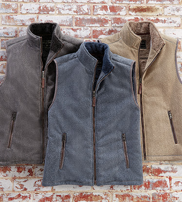 Herringbone Fleece Vest