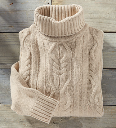 Mahoney Wool Blend Turtleneck Sweater