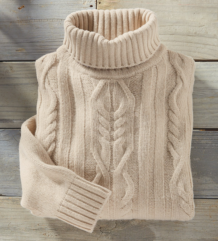 Patrick James Mahoney Wool Blend Turtleneck Sweater