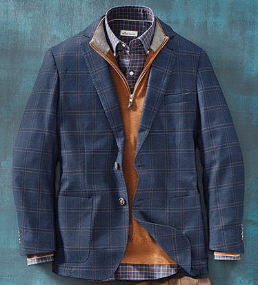 Night Sky Windowpane Soft Coat