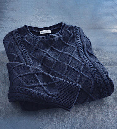 Upcountry Fisherman's Cable Sweater