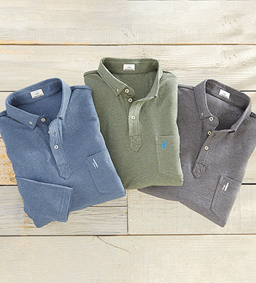 Vince Long Sleeve Polo Shirt