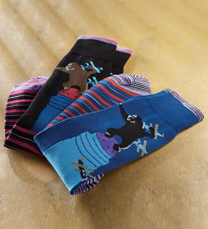 Robert Graham Gibbons King Kong Socks