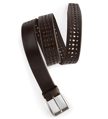 Artisan Walnut Leather Belt