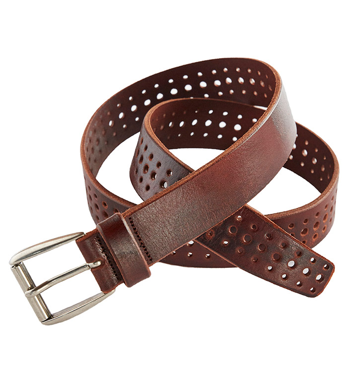 Martin Dingman Artisan Chestnut Leather Belt